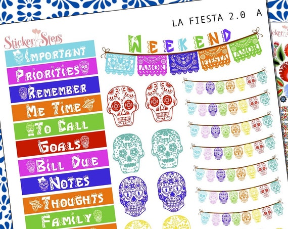 La Fiesta 2.0 Planner Stickers Stickers Mini Kit | 8153