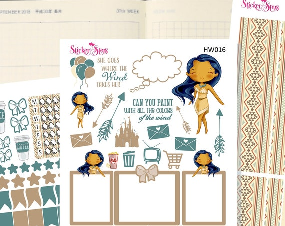 Pocahontas Slim Planner Stickers Mini Kit | HW016
