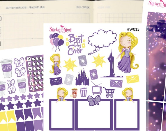 Rapunzel Slim Planner Stickers Mini Kit | HW015