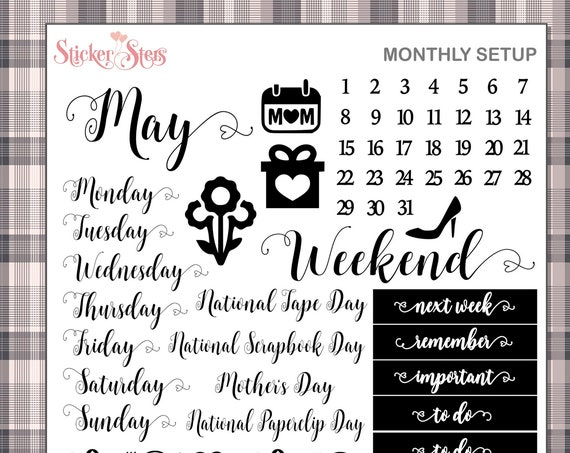 MAY Planner Stickers