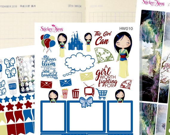Mulan Slim Planner Stickers Mini Kit | HW010