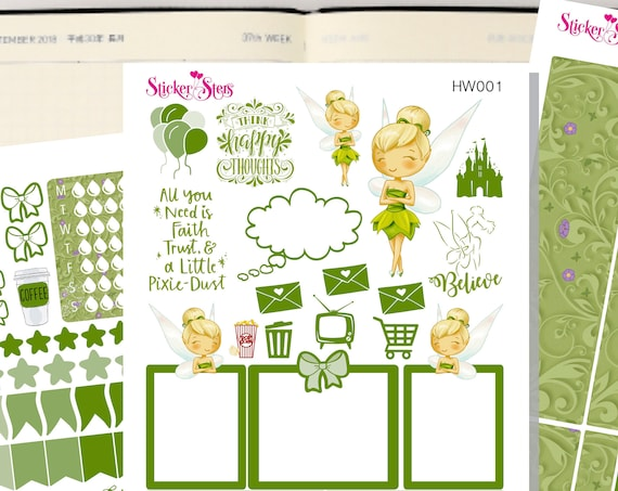Fairy Slim Planner Stickers Mini Kit | HW001