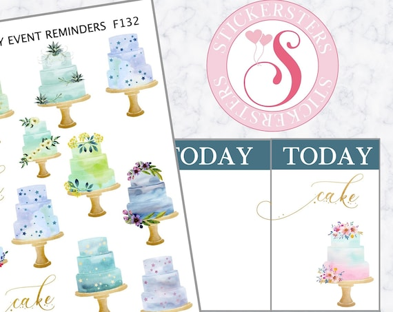 Cake Worthy Event Reminders | F132  Planner Stickers