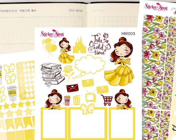 Belle Slim Planner Stickers Mini Kit | HW004
