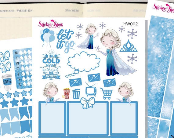 Elsa Slim Planner Stickers Mini Kit | HW002