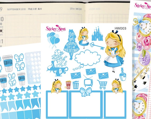 Alice Slim Planner Stickers Mini Kit | HW003