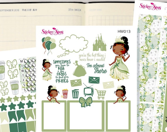 Tiana Slim Planner Stickers Mini Kit | HW013