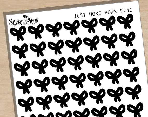 Just More Bows Foil Option Available | F241 Planner Stickers