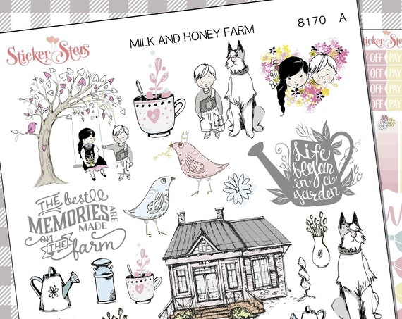 Milk and Honey Farm Acreage Ranch Planner Stickers Stickers Mini Kit | 8170