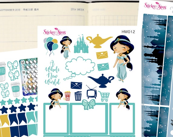 Jasmine Slim Planner Stickers Mini Kit | HW012