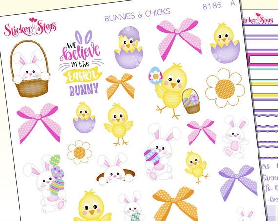 Bunnies and Chicks Stickers Stickers Mini Kit | 8186