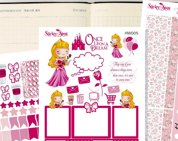 Aurora Slim Planner Stickers Mini Kit | HW005