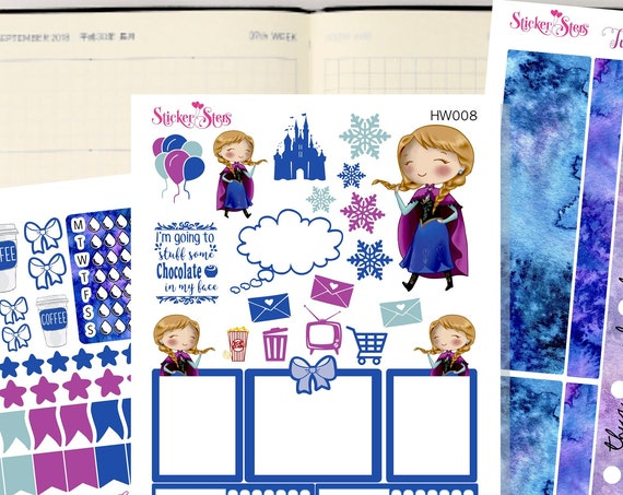 Anna Slim Planner Stickers Mini Kit | HW007