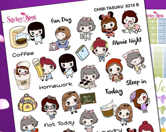 Chibi Tasuku (Small Task) Planner Stickers Stickers Mini Kit   8216