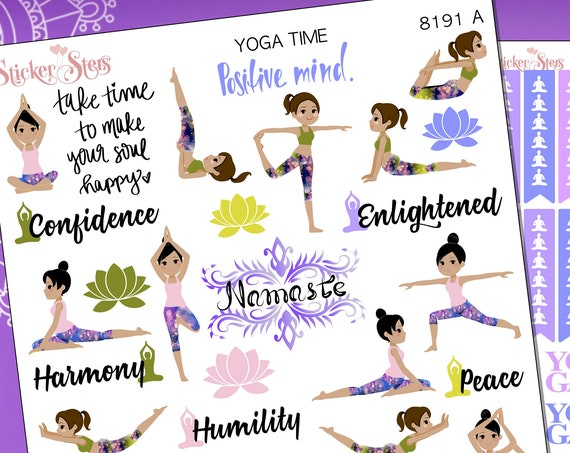 Yoga Time Planner Stickers Stickers Mini Kit | 8191
