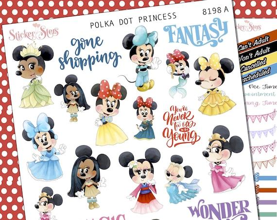 Polka Dot Princess Planner Stickers Stickers Mini Kit | 8198