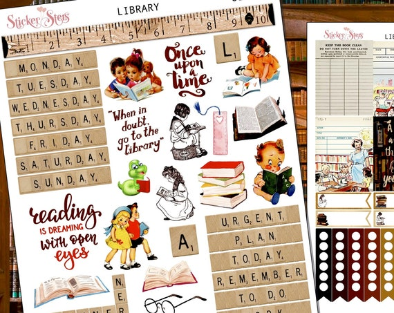 Library Planner Stickers Stickers Mini Kit | 8125