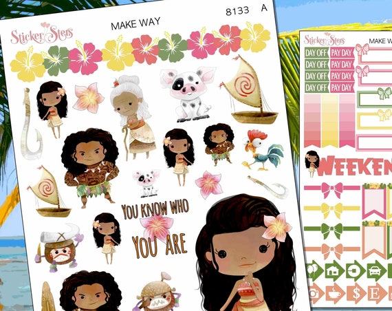 Make Way Hawaiian Island Planner Stickers Stickers Mini Kit | 8133