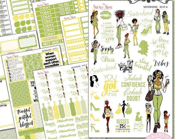 Sisterhood Sorority Sisters Planner Kit & A La Carte Pages   | 8153