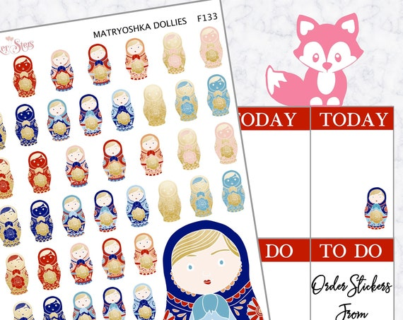 Matryoshka | F132  Planner Stickers