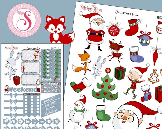 Christmas Time Planner Stickers Mini Kit | 8077