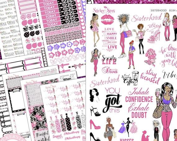 Sisterhood Sorority Sisters Planner Kit & A La Carte Pages   | 8184