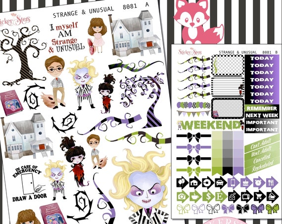 Strange and Unusual Planner Stickers Stickers Mini Kit | 8081