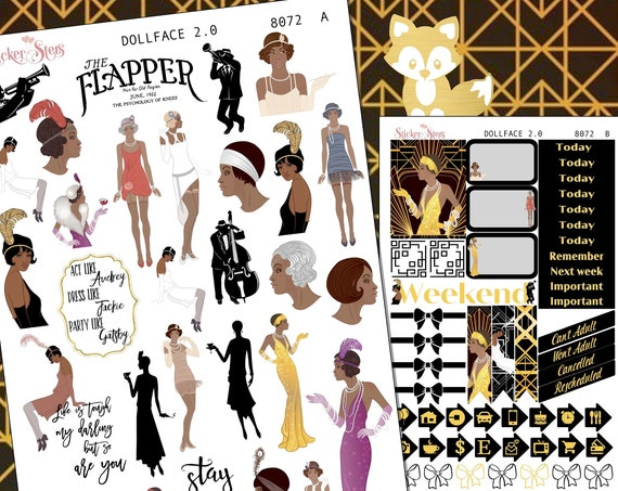 Art Deco Style Dollface Planner Stickers Stickers Mini Kit | 8072