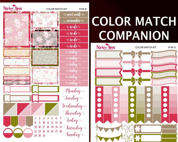 Bunny Love Color Match Companion Planner Stickers Kit | 8146