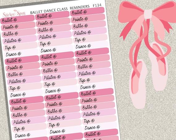 Ballet Dance Class | F134  Planner Stickers