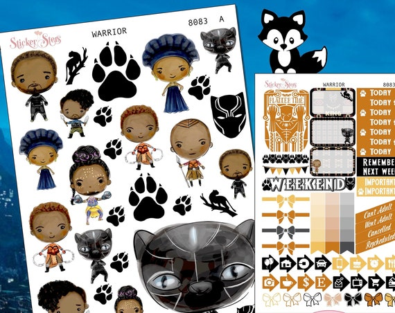 Warrior Planner Stickers Stickers Mini Kit 8083