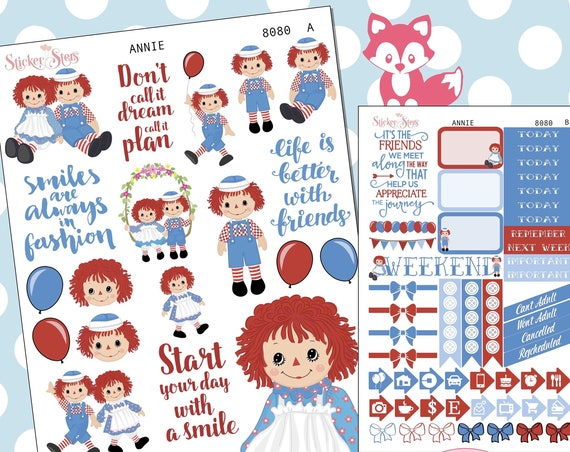 Annie Planner Stickers Stickers Mini Kit | 8080