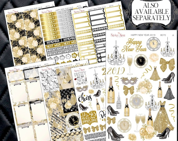 Happy New Year 2019 Planner Kit & A La Carte Pages   | 8070