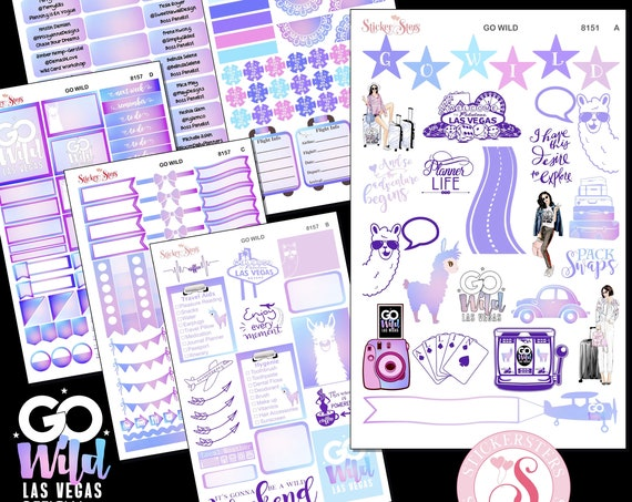 The Ultimate GO Wild 2019 Las Vegas Planner Sticker Kit | 8151 Caucasian