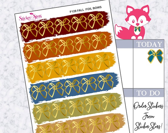 Foil Bows | F128  Planner Stickers