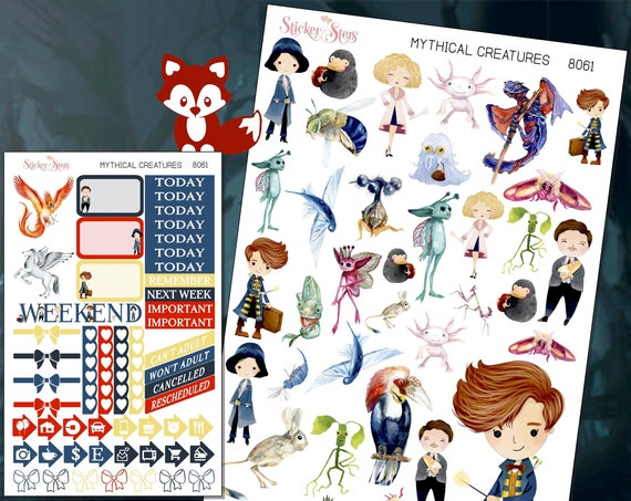 Mythical Creatures Planner Stickers Mini Kit | 8061