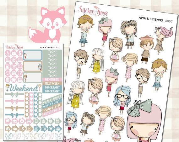 Avia & Friends Planner Stickers Mini Kit | 8007