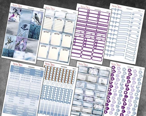 Sorceress Color Kit Planner Stickers Set   8024