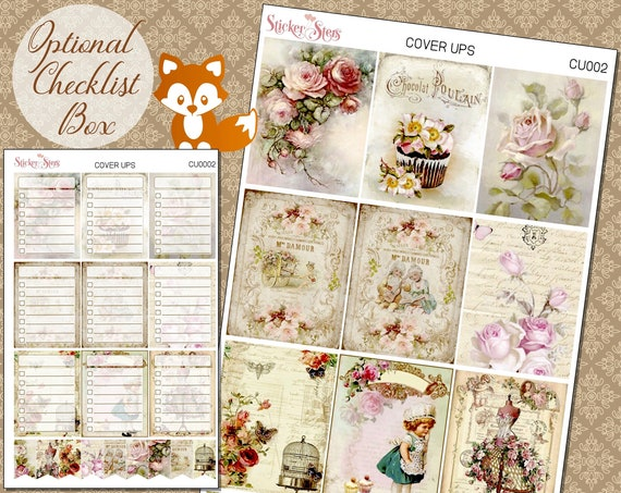 Planner Cover Ups Stickers Kit CU0002
