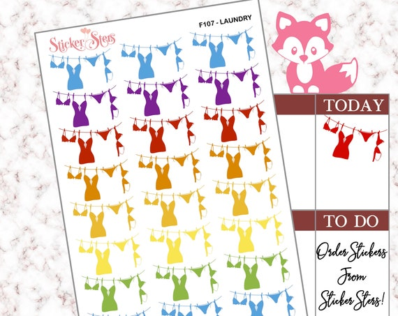 Laundry | F107 Planner Stickers