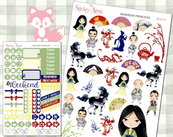 Warrior Princess Stickers Mini Kit | 8019