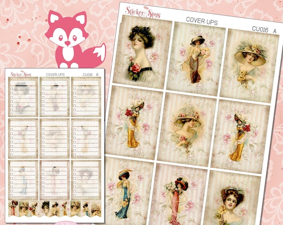 Ephemera Ver. 7 Planner Cover Ups Stickers Kit CU016