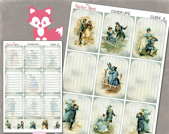 Ephemera Ver. 5 Planner Cover Ups Stickers Kit CU014