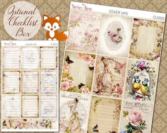 Planner Cover Ups Stickers Kit CU0001