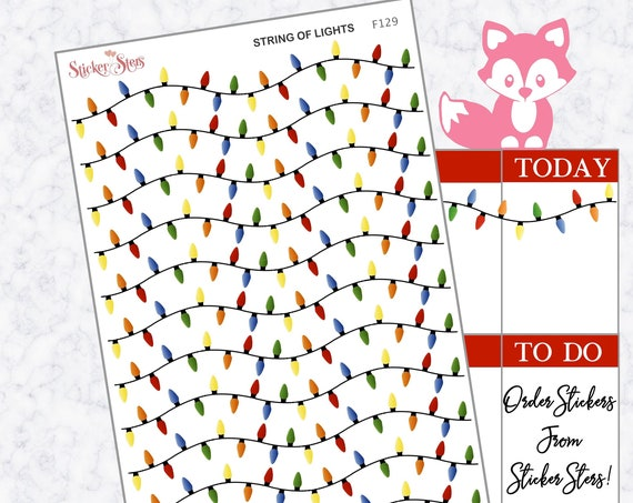 String of Lights  | F129 Planner Stickers