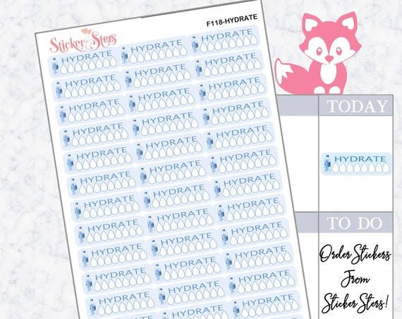 Hydrate | F118  Planner Stickers