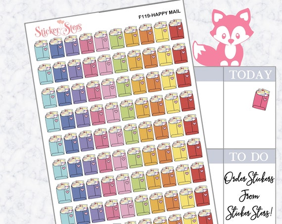 Happy Mail | F119  Planner Stickers