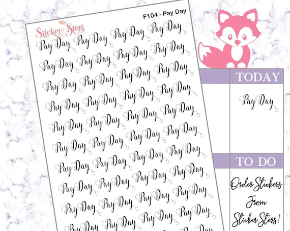 Pay Day | F104 Planner Stickers