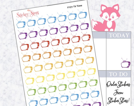 TV Time | F121  Planner Stickers