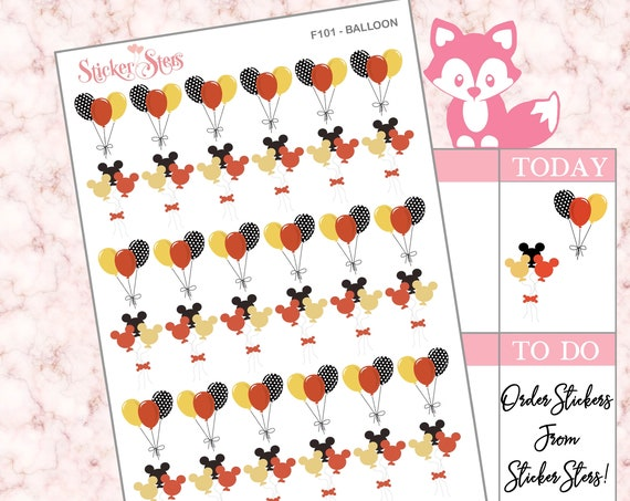 Balloons  | F101 Planner Stickers